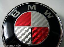 BMW bonnet hood BADGE red White 82 mm e30 E36 E39 E46 E60 X3 X5  FREE P&P