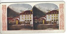 Mount (Mont) Blanc from Chamoniz, Switzerland, World Series Vintage Stereoview