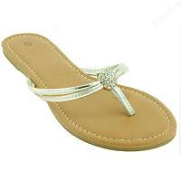 Women's New Gladiator Flat Braided Sandals T-strap Flip Flops Thong Shoe Size