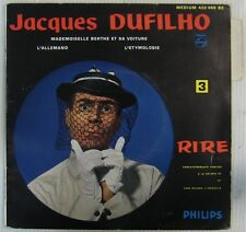 Jacques Dufilho 45 Tours Vol 3