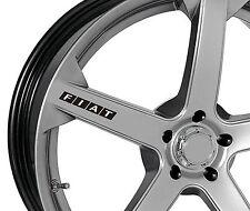 6 x Fiat Aufkleber für Felgen 500 Stilo Brava Freemont Coupe Emblem Logo S