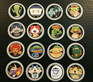 16 Game Medals POGs Original Parts for The Game of Life Yo-Kai Watch Edition