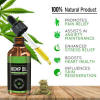 100% Natural Best Hemp Oil Extrac Drops For Pain Anxiety Stress Sleep Aids