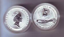 1994 Australia Silver $10 Coin Olympic Heritage Series Sarah Durack Swimming