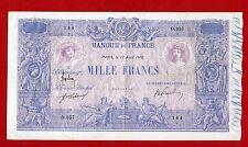 (Ref: O.957)  1000 FRANCS ( BLEU ET ROSE ) 12/04/1916 (TTB+) RARE