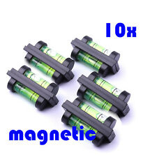 10x Mini Bubble Spirit Level - Portable Tubular Magnetic Magnet  TV Hanger