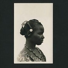 Africa upper VOLTA toucouleurs WOMAN HAIRSTYLE * VINTAGE 30s Lattes Photo PC