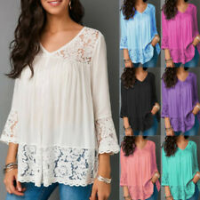 703cfeff749 Lace Casual Plus Size Tops & Blouses for Women for sale | eBay