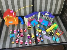 Peppa Pig's Treehouse & George's Fort Lot School Works many figures