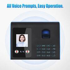 Attendance Machine Face Fingerprint Recognition Mix Biometric Time Clock V2p2