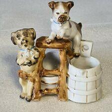 🚶 pyrogène en porcelaine figurine chiens signature a identifier