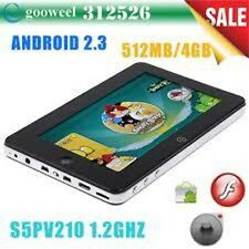 "7"" CAPACITIVO Google Android 3.0 Tablet PC s5pv210 512mb 1ghz CAPACITIVO Dropad"