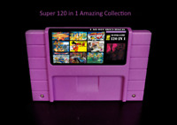 Super 120 in 1 Nintendo S NES SNES Game 16-Bit Multicart USA Shipping Fast