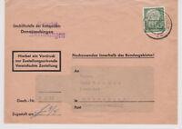 BUND, Mi. 193 EF, ZustUrkunde Furtwangen nach Gutenbach, 4.5.60