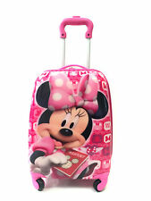 Minnie Mouse Disney Girls Kids Travel Holiday Suitcase 4 Wheeled bag UK Seller!!