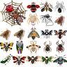 Damen Brosche Insekt Tier Strass Kristall Emaille Brooch Hochzeit Anstecknadel