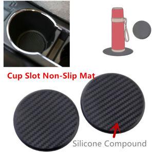 Premium Grade Meterial 2 Pcs Car Dashboard Cup Drink Non-skid Mat Accessories