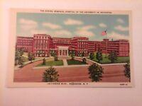 Vtg 1930's Linen Postcard STRONG MEMORIAL HOSPITAL UNIVERSITY OF ROCHESTER, N.Y.