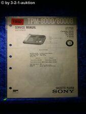 Sony Service Manual TPM 8000 / 8000B (#1950)