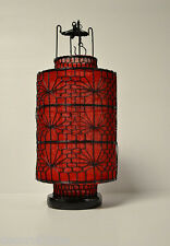 """Oriental Chinese Dark Red Fabric Lantern Feng Shui Home Decor Party Gift 6""""D"""