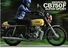 1975 HONDA CB750 F1  SUPER SPORT Road Bike 4 page Motorcycle Sales Brochure NCS