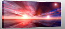 """Large Sunset Sea Seascape Canvas Wall Picture 44""""x20"""""""