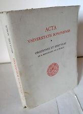 ACTA UNIVERSISTATIS BONONIENSIS,1873-1959,Università di Bologna,Discorsi,lettere