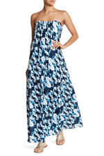 NEW LOVERS AND FRIENDS Savannah Maxi DRESS Sz S $209 TRIBAL WATER DYE NORDSTROM