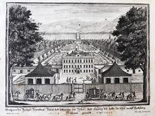1717 Salzburg Fronburg Frohnburg Kupferstich-Gesamtansicht Corvinus Disel