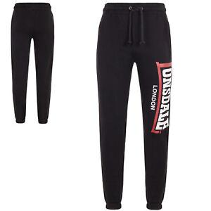 Lonsdale Black Two-Tone Jogging Gym Sweatpants Training Pants Trousers Hose