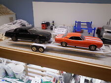 Car Trailer  2 car open trailer  1:24 1:25  scale Diorama