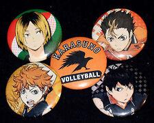 Haikyuu!! 5 Button SET Collector Pins Hinata, Kageyama, Nishinoya, & Kenma NEW