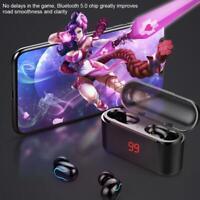 TWS In-Ear Kopfhörer Bluetooth 5.0 Kabellos Stereo Headset Ohrhörer mit Ladebox