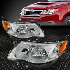 For 09-13 Subaru Forester Chrome Housing Amber Corner Headlight Replacement Lamp