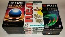 Lot of 11 Used VHS Tapes Sold as Blanks (See Description)
