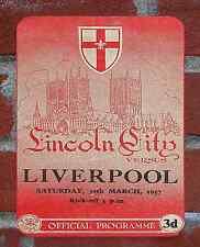 Vintage Tin Sign Lincoln City 1957 Programme Metal Sign.