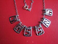 Six Vintage Estate Sterling Silver Hebrew Letter Charms (Rachel?)