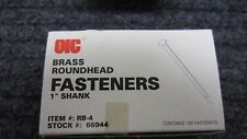 "OIC  1"" Brass Plated Round Head Fasteners 60 boxes 100 per box (OIC66944)NEW"