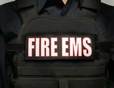 """3x8"""" FIRE EMS Tactial Hook Plate Carrier Patch Firefighter Paramedic EMT Morale"""