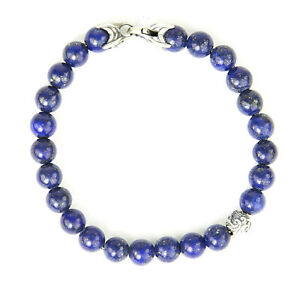 DAVID YURMAN Men's Lapis Lazuli Spiritual Accent Bead Bracelet $595 NEW