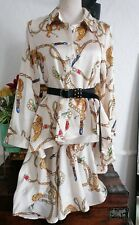 Jj Fairyland Blouse scarf print fishtail silky size 10 bnwt topshop consession