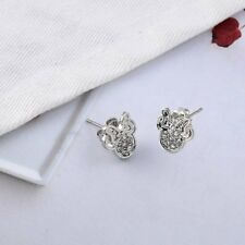 Women's Children's Jewelry Silver Colored Minnie Mouse Stud Earrings 68-4