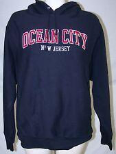 Pro-Weave Black Red Ocean City Hoodie Pullover Sweatshirt Mens Size Medium