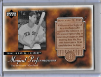 Ted Williams 2003 Upper Deck Etched In Time Etched in Wood Magical Performances