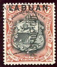 Labuan 1901 KEVII Postage Due 6c black & brown-lake (p13½-14) VFU. SG D5. Sc J5.