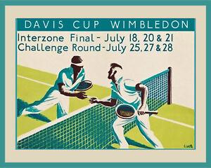 Davis Cup at Wimbledon Tennis Art Poster - 8x10 Color Photo