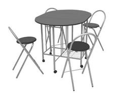 Small Kitchen Dining Table And Chairs Set Folding Fold Away Chair Storage Seat 4
