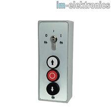 Schlüsseltaster AP Schlüsselschalter AUS EIN mit AUF STOP ZU Taste Tor Antrieb