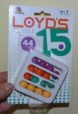 Brand New! Loyd's 15 The Block & Roll Puzzle Game - 8 Years + 44 Challenges!