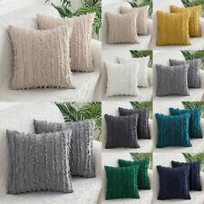 """Luxury Crushed Tassel Cushion Cover Sofa Throws Pillowcase 18 X 18"""" Home Decor"""